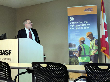 Scott Brown of Lonza discussed trends and issues related to biocides used to protect paints and coatings at our March meeting at BASF in Shakopee.